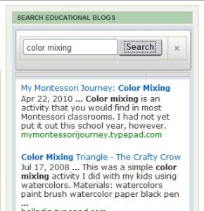 Education Blogs Custom Search Engine