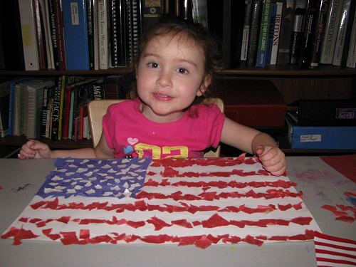 Preschooler Kindergartner Flag Craft