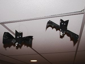 Flying Toilet Paper Tube Bats