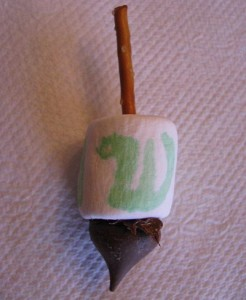 Edible Dreidel Dessert Craft