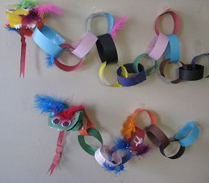Chinese New Year Paper Chain Dragon Craft