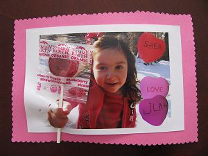 Lollipop Photo Valentine Card
