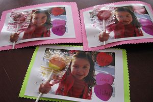 Valentine Lollypop Photo Card