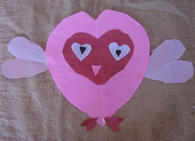 Valentine's Day Heart-Faced Owl - Kid's Craft