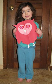Valentine's Day Heart Owl 2009