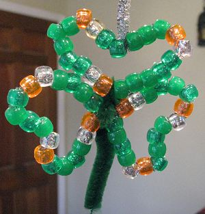 Beaded Shamrock - Clover