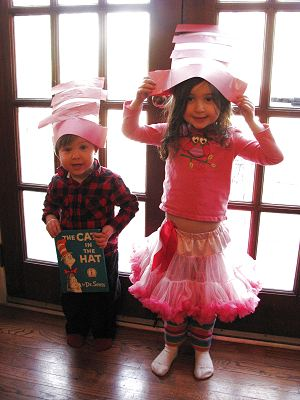 Children with Cat in the Hat Craft Hats