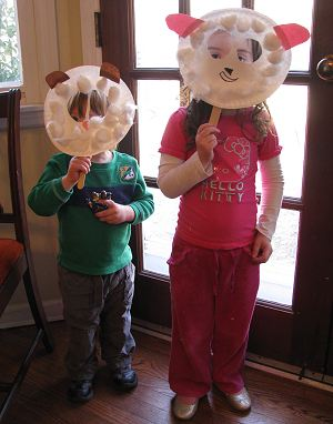 Lamb Masks for Kids