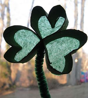 Shamrock Sun Catcher Craft for Kids
