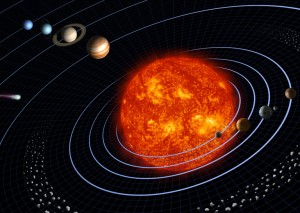 NASA illustration of the Solar System