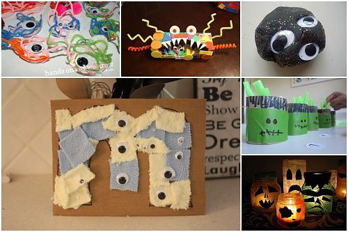 Monster Crafts http://www.naturallyeducational.com/2011/10/monster-halloween-crafts-kids/