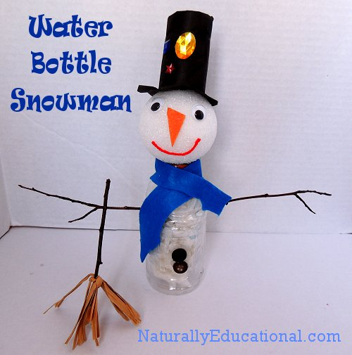 Water Bottle Snowman from Naturally Educational