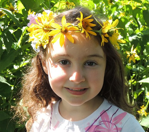 Daisy Chain Crown Girl