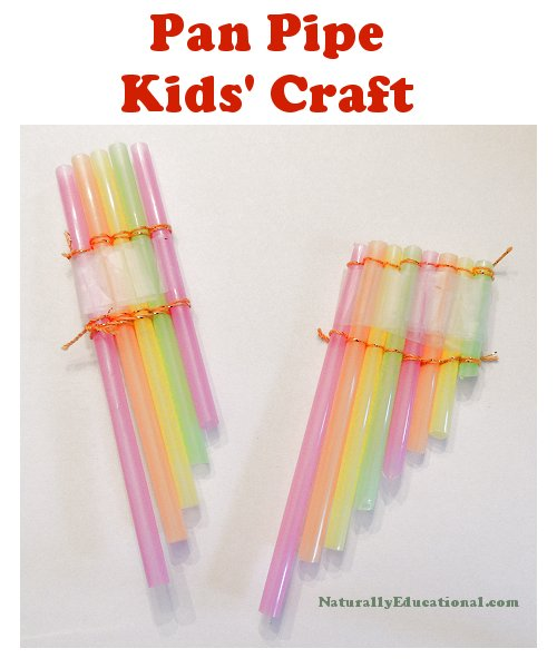 Straw Pan Pipes Craft Text