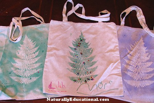 Christmas Tree Printed Market Bag