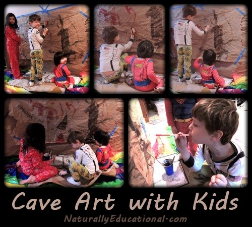 Cave Painting Art with Kids