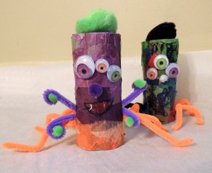 Halloween Cardboard Tube Monster Craft