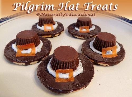 Pilgrim Hat Treats for Thanksgiving at Naturally Educational