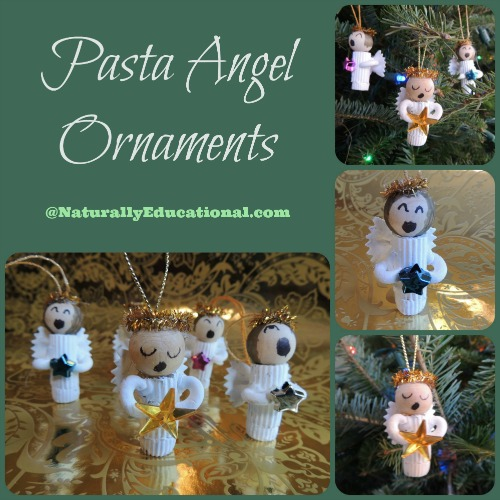 Pasta Angel Ornaments for Christmas from Naturally Educational