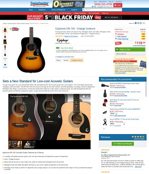 Sweetwater Online Music Store